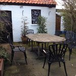 Outdoor seating, great during warmer months or year-around for hardy souls