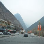 Jiuxiang Hotel on the left near the back of the photo - scenic spot in the valley and only 10-15