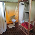 Bathroom inside tent