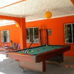 Pool table in common area