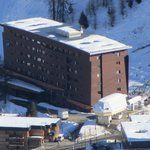 Terra Nova Hotel from the top of Aime La Plagne
