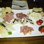 cheese and meat antipasto