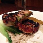 Grilled chicken with mascarpone risotto