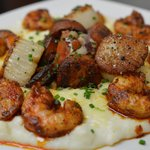 Shrimp and Scallops over Grits