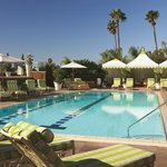 Soak up LA's year-round sunshine by the pool at Four Seasons Hotel Los Angeles