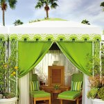 Private poolside cabanas at Four Seasons Hotel Los Angeles at Beverly H