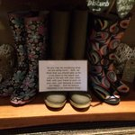 Borrow these wellies and go for a splash in the sea , because fun is an important thing!!!