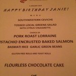 my incredible birthday menu...cuisine and service both superb...these are the extra touches!