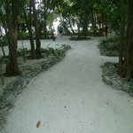 Pathway from boathouse to rooms/dining