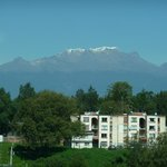 Room view of Mount Iztaccihuatl (sleeping lady)