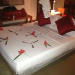 Flowers on honeymoon suite :)