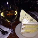 Lemon lavender white chocolate cake. All their desserts are homemade and FANTASTIC!
