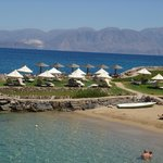 Elounda Mare's private and secluded beach in Crete
