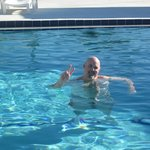 Me Enjoying The Heated Swimming Pool In February