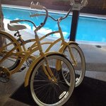 Loaner bikes by the seasonal pool!