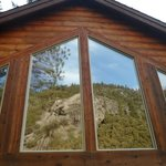 These are the windows to our cabin which let us look at the mountain all day and early evening.