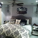 Nice decor. large comfortable bed
