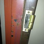 Forcible entry damage room 231