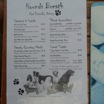 "Doggie Menu - ""Hounds Breath Cafe"""