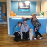 Richard Whittaker (Manager) Shoana (Receptionist) myself and Patch