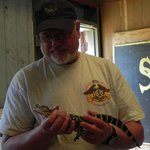 The baby alligator is fun to hold