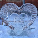 ice carving to honor the Ice festival