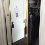 The wardrobe - it is a double door so plenty of space