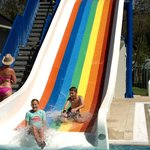 Fun on the water slide