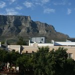 View from our room of Table Mountain & Dunkley Square