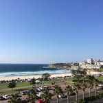 View from balcony of Bondi beach.