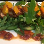 Teriyaki pork, rocket and orange salad
