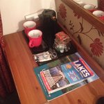 Good tea and coffee facilities and helpful leaflets and magazines available!