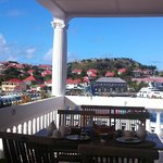 Gustavia Harbor from the dining deck
