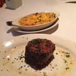Petite Filet with Crawfish Mac & Cheese, to die for!!