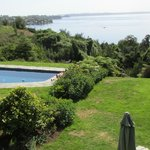Pool and Lake Llanquihue from the dining room