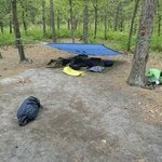 Our campsite.  You can use a tent.