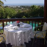 Bougainvillea suite patio with glorious views