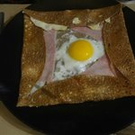 Galette jambon fromage oeuf