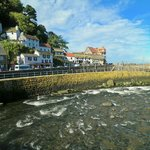 Pretty Lynmouth Harbour nearby