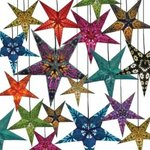 NEW Colorful Lighted Paper Stars  $29.99