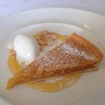 Lemon and Treacle Tart with Mascarpone Sorbet - Sunday lunch