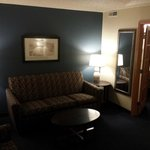Lounge area in Suite