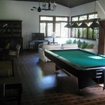 Pool Table in Lounge Area