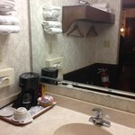 Bathroom in king bed room. Rather small but tolerable for short stays.