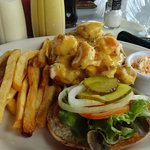 Burger with shrimp