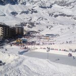 View from our balcony of chair lift