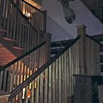 Stairway to our room and second floor lobby and fireplace