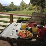 morning breakfast on the deck - glorious way to start the day