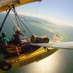 Flying above Anclote Key