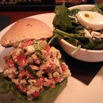 Lobster Roll and Spinach salad
